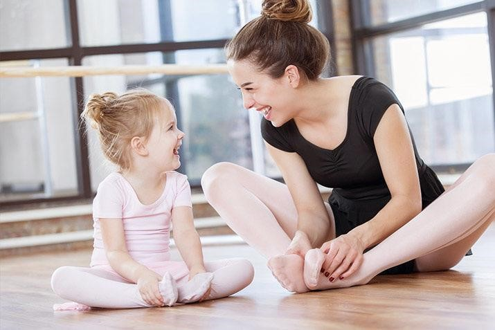 young pre-school ballet dance with teacher