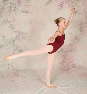 young girl in dress code for ballet 3 and 4
